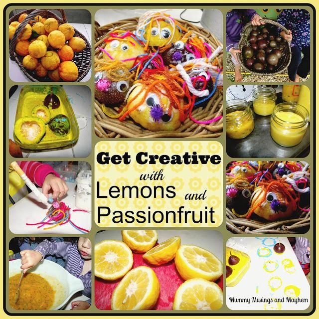 Turning Cooking into Crafting - This post includes recipes for Lemon Curd and Passionfruit Butter as well as 2 creative activities with the leftovers! Mummy Musings and Mayhem