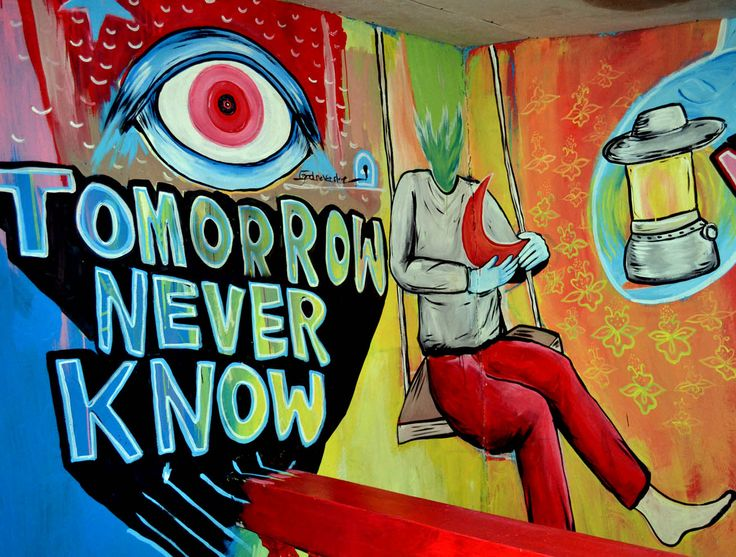 tomorrow never know , in empty room