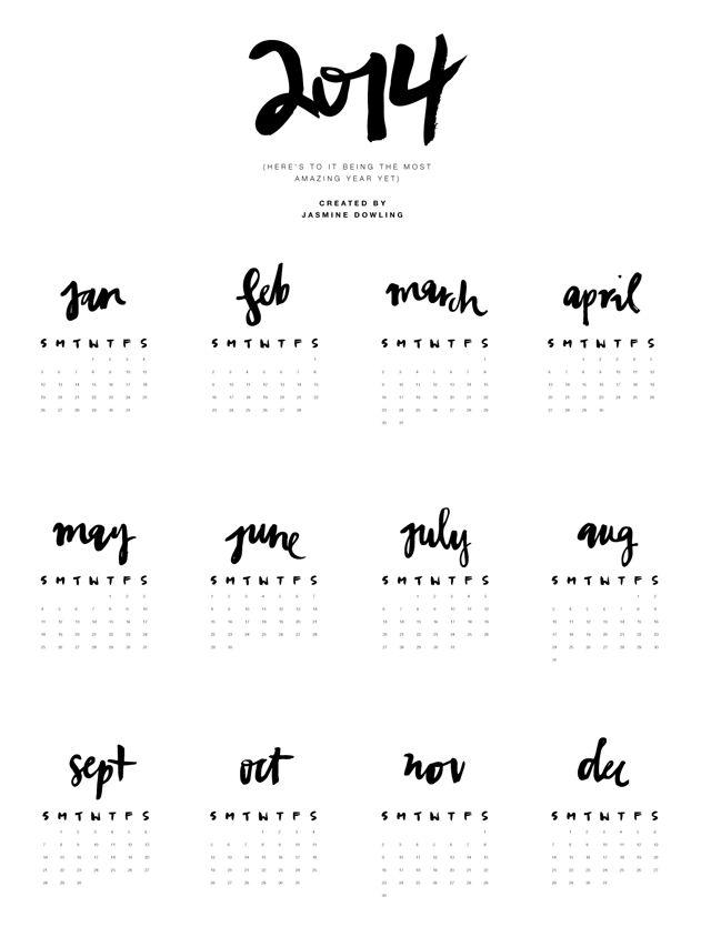 Love Calendar Diy : Free printable calendar love this diy pretty