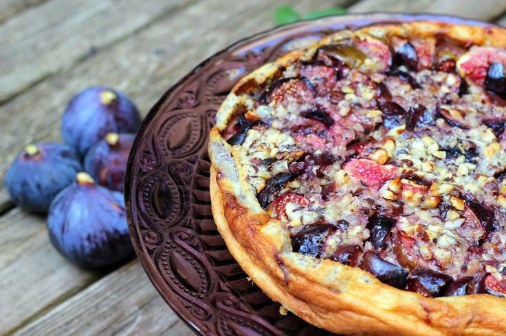 CAMELIE: Clafoutis aux figues violettes de Solliès et aux n...