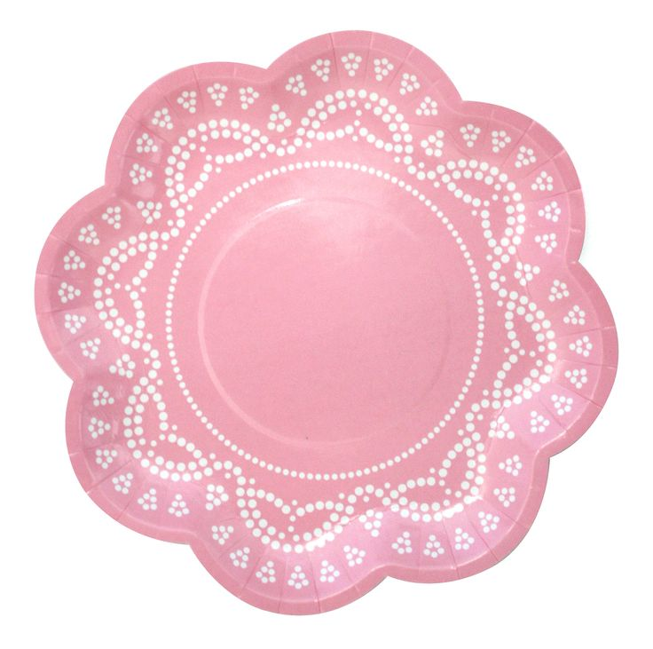 Lovely lace pastel pink party plates!