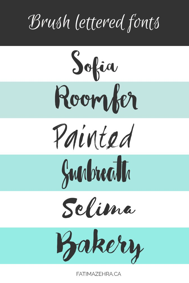 6 Gorgeous And Free Brush Lettered Fonts For Spring time