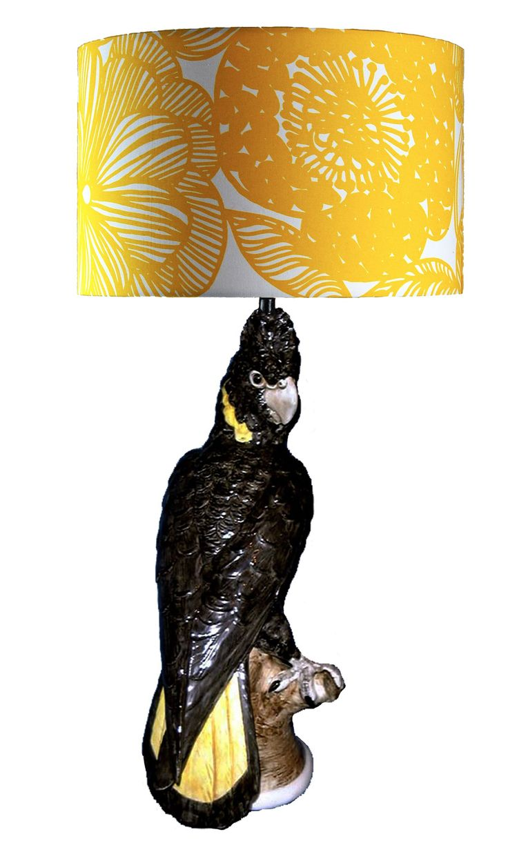 52 best studio australia ceramic collection images on pinterest black cockatoo with yellow tail table lamp tall hand painted and gloss glazed australian standards lamp fitting exclusive to studio australia large shade geotapseo Gallery