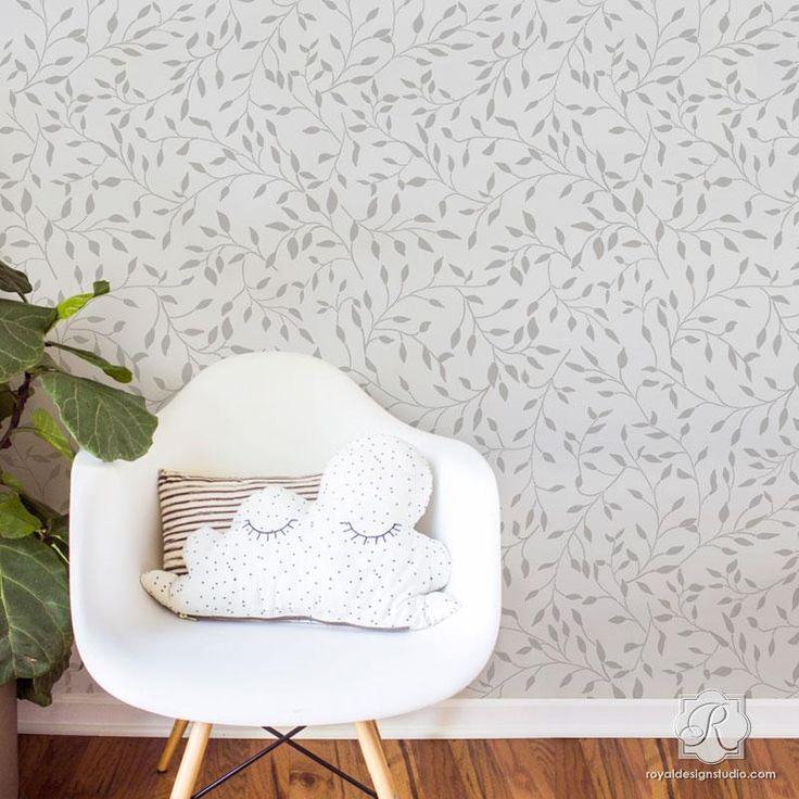 les 203 meilleures images du tableau modern wall stencils. Black Bedroom Furniture Sets. Home Design Ideas