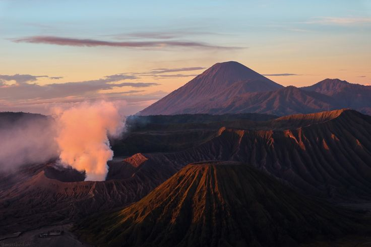 Bromo Mountain - Find your happiness everywhere you are. I took this picture in Bromo Mountain, East Java, Indonesia
