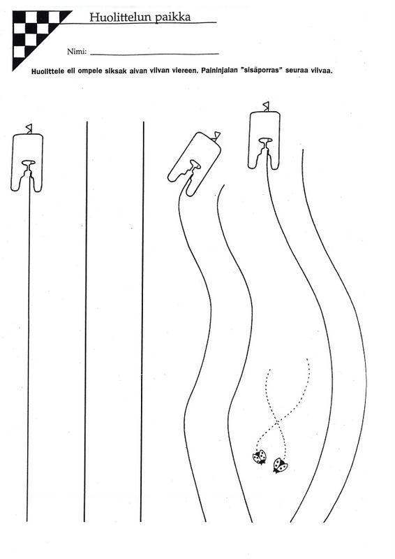 Ompeluharjoitus, huolittelun paikka (3).