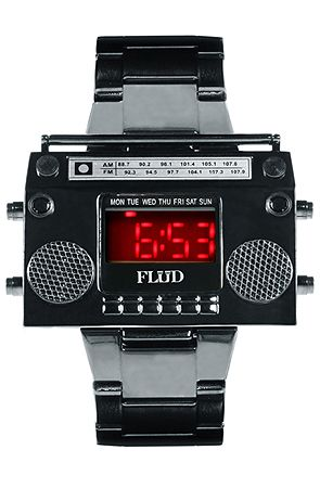 Flud Watches The Gunmetal Boombox Watch