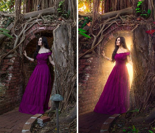 8 Steps to Adding Fantasy Lighting with Photoshop. Photoshop tips. Nordic360.