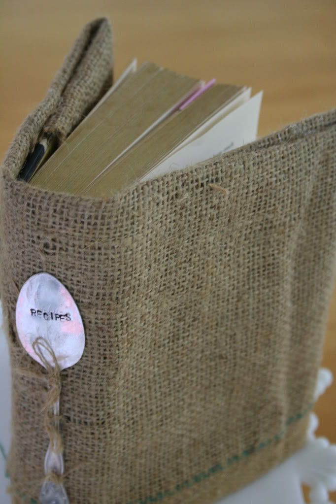 Burlap Book Cover and other DIY from a law student- gotta love it