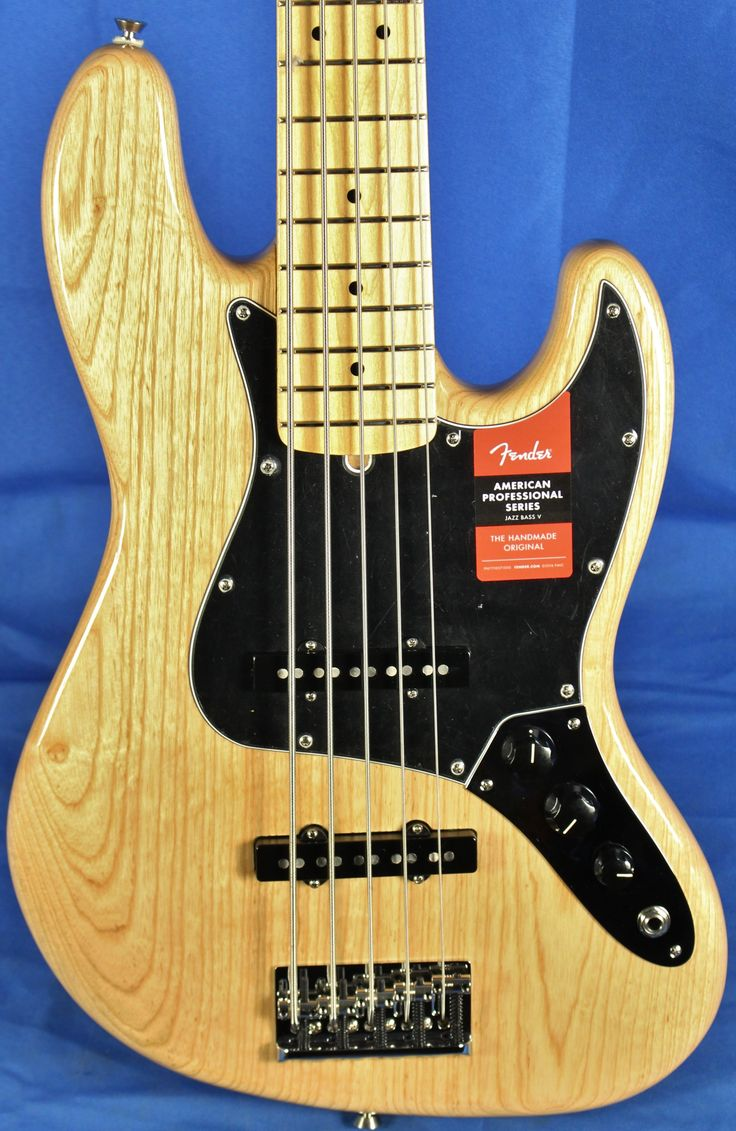 Fender USA American Professional Am-Pro Jazz V Electric Bass Guitar Natural w/OHSC