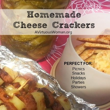 Homemade Cheese Crackers {Perfect for picnics, snacks, parties, and holidays!} | A Virtuous Woman