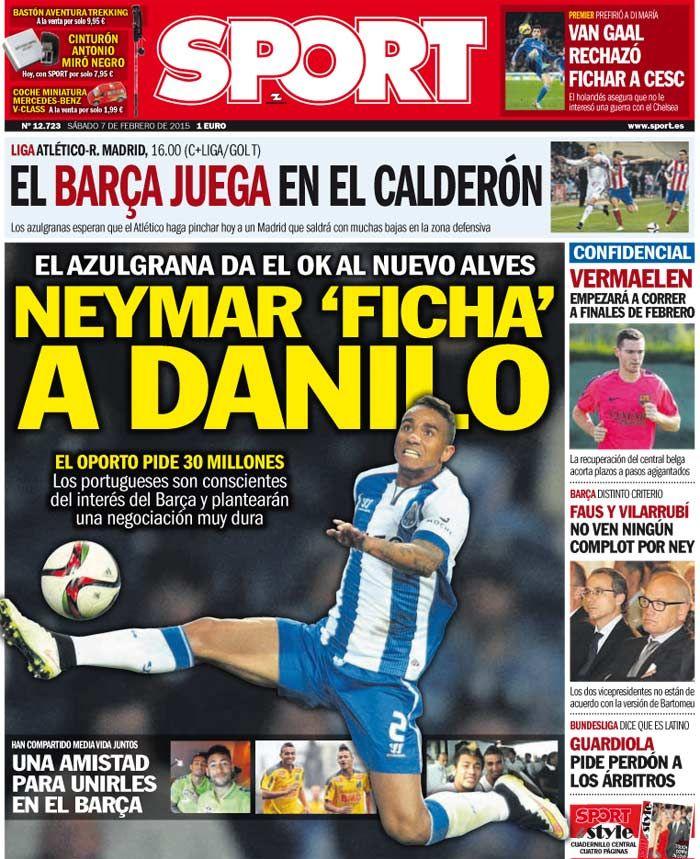 FC Porto Noticias: Neymar chama Danilo para Barcelona