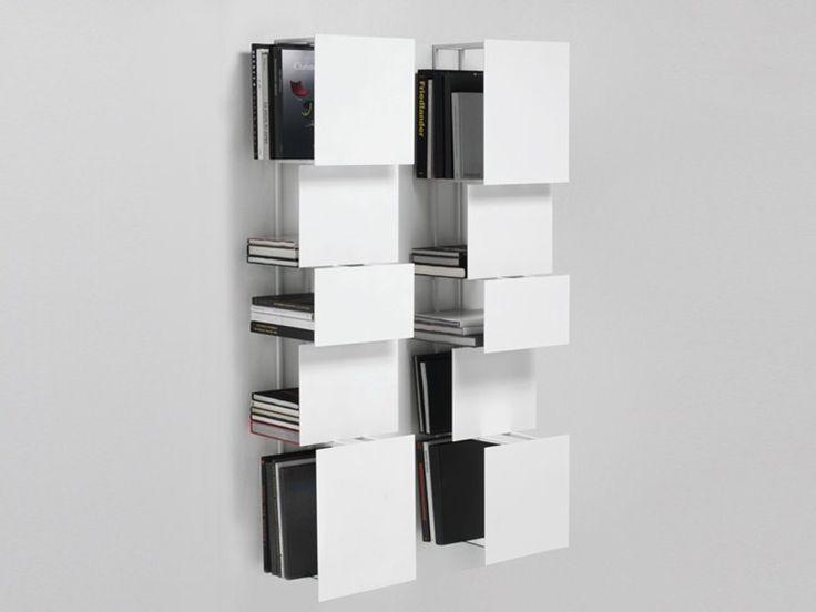 Libreria a parete in acciaio BUKVA by Living Divani design Victor Vasilev