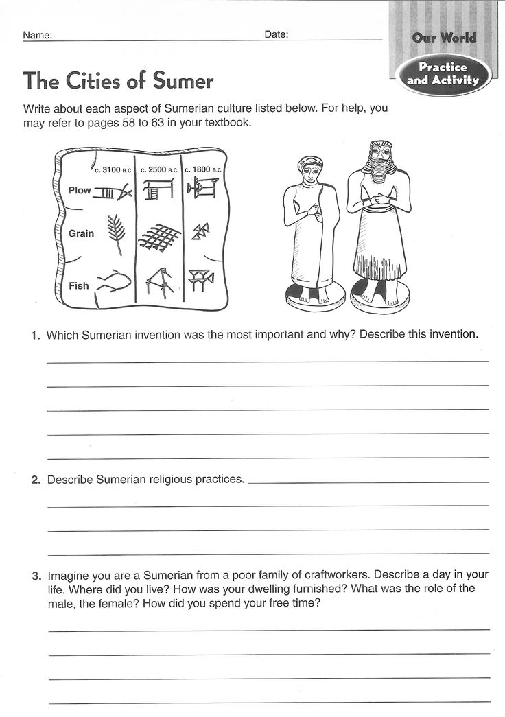 School Worksheets For 6th Graders : Ancient civilizations worksheets th grade google search