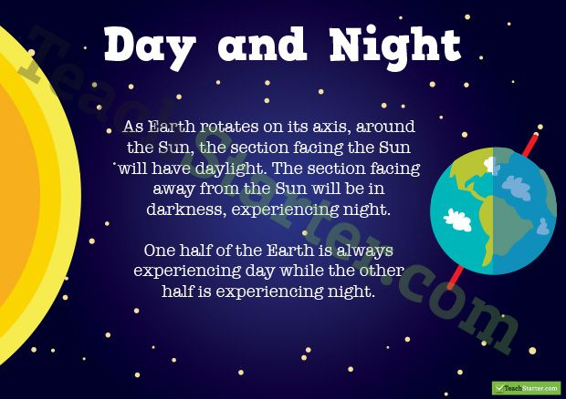 day and night poster teaching resources teach starter science pinterest night student. Black Bedroom Furniture Sets. Home Design Ideas