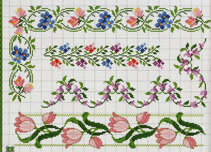Floral border #sweet#simpl#crossstitch#pattern