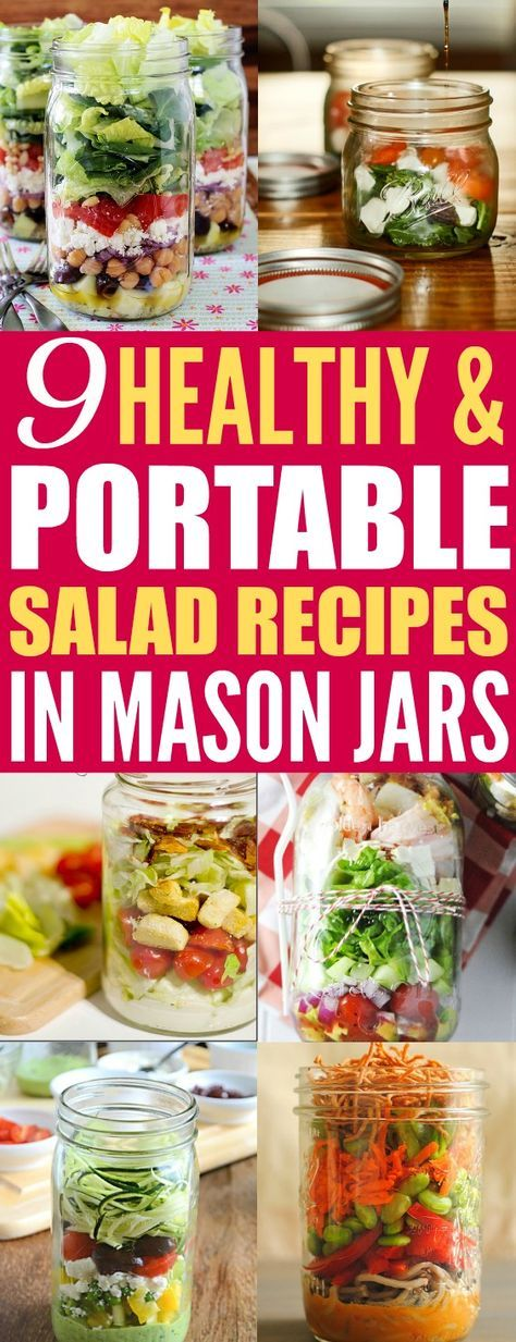 Mason jars are so perfect for multiple uses. It's amazing how easy it is to prep delicious lunches for your busy week! Omg! I love the Mason jar salads it's a one container meal so no mess! Also is so easy to prep in advance just keep the dressing on the bottom so it's doesn't ruin the lettuce before you eat it! These salads in a jar are perfect to bring in to work! Love it! Saving for later!