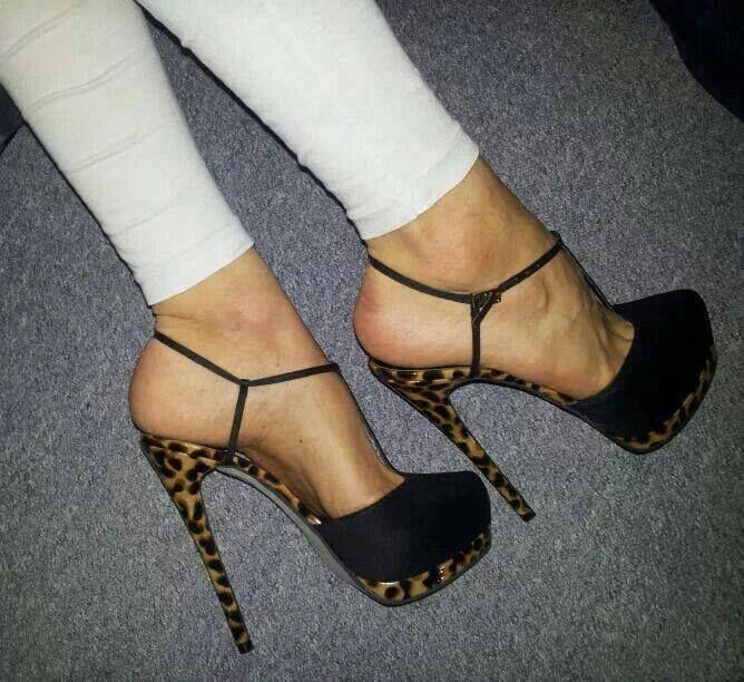 Fashion high heel ankle strap #sandals