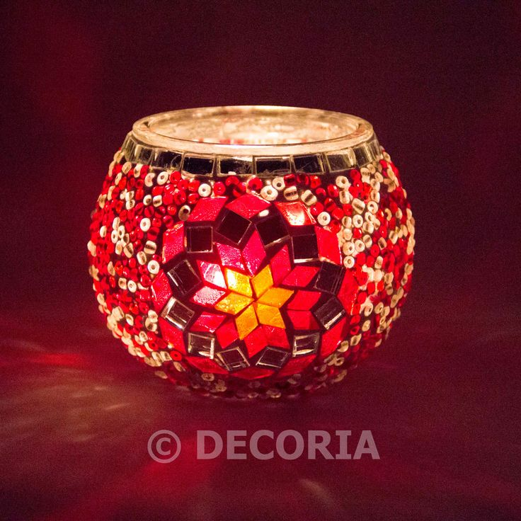 Candle Holder - Red - DECORIA HOME & GIFT