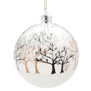 Boule paysage arboré – Déco Noël Gold – Maisons du Monde – #arbore #boule #d…