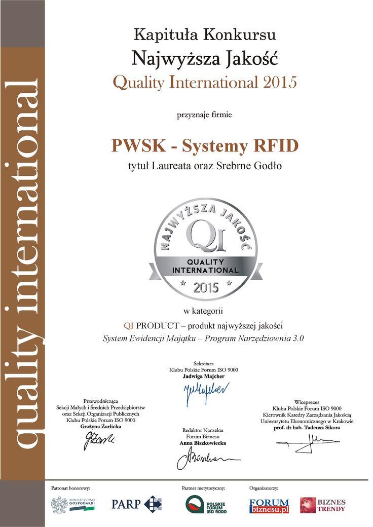 Najwyższa Jakość Quality International dla systemu Ewidencja Majątku Narzędziownia :)  #narzędziownia #ewidencja #magazyn