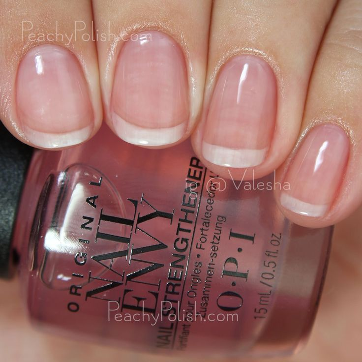 OPI Pink To Envy | Nail Envy Strength In Color Collection | Peachy Polish
