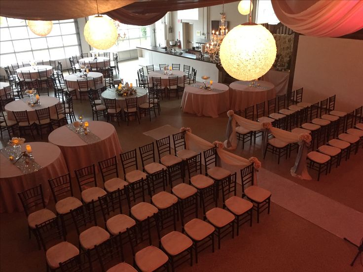 Ceremony setup with an immediate room turnaround
