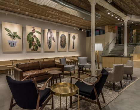 Starbucks has opened a new store in the gallery district of New York that celebrates art and its connection to the community. The new location features a rotating wall of curated art pieces, which customers can purchase with proceeds benefiting a local arts organization.