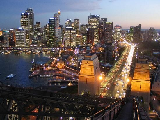Sydney Harbour - view from the bridge #Australia