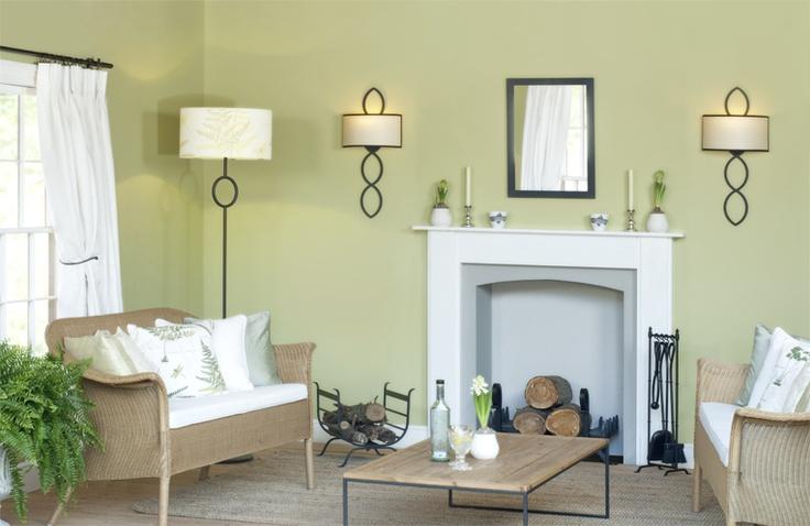 Elegant Sitting Room in Farrow and Ball Churlish green