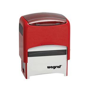 Tak prezentuje się pieczątka Wagraf Polan 3 w kolorze czerwonym. Polan 3 to średniej wielkości pieczątka - rozmiar płytki z gumką to 4,8 x 1,9 cm.