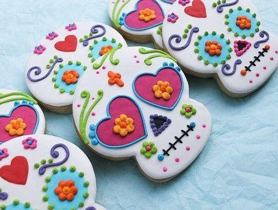 Para cortar un poco con las tortas y para ir con un poco de cultura elegi estas galletitas que a las mexicanas y a las fan de mexico (como yo) les va a encantar