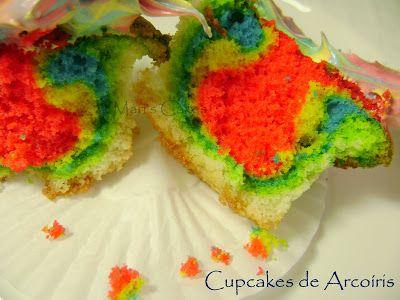 Vanilla Rainbow Cupcakes   Mari's Cakes (English)