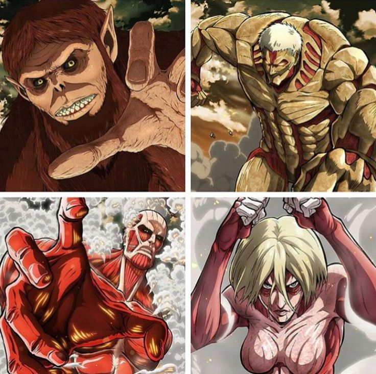 Titan Squad [spoiler] Zeke Jäger, Reiner, Berthold and Annie Attack On Titan / SnK