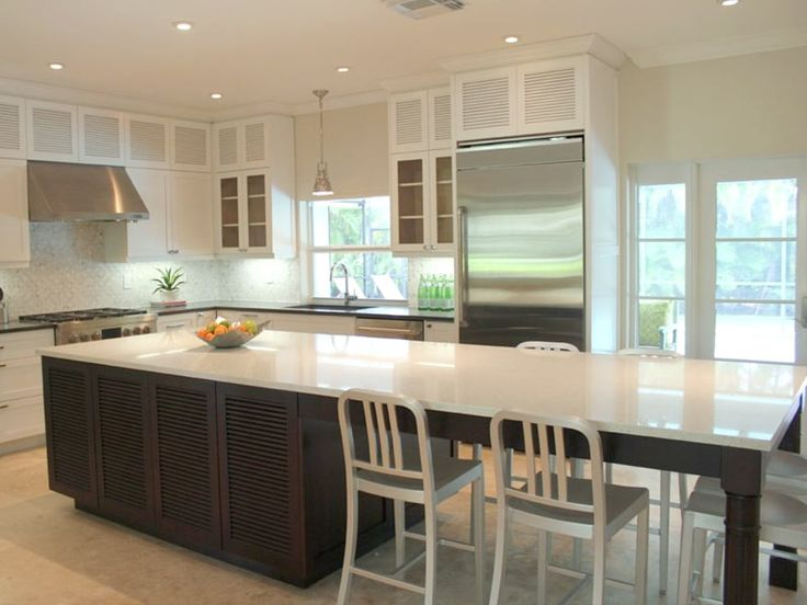 Lovely Kitchen island with Bar Seating for 4