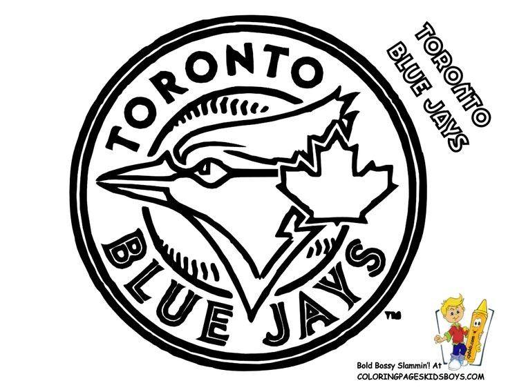 Blue Jays Logo Colouring Sheet Baseball Coloring Pages Sports Coloring Pages Blue Jays
