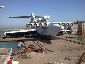 Lun-class ekranoplan - ground effect vehicle used by late Soviet navy. Technically a ship!