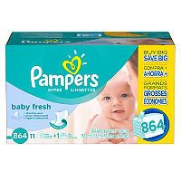 Pampers Baby Fresh Baby Wipes (864 ct.) - Sam's Club $19.98