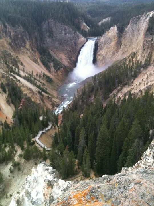 Upper Falls in Yellowstone Park.