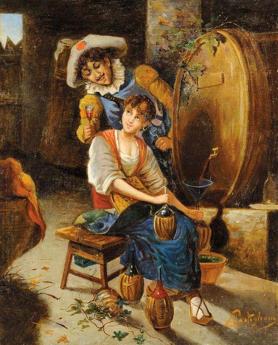 Итальянский художник Salvatore Postiglione (1861-1906):