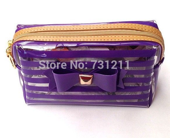 Cheap Luggage & Bags, Buy Directly from China Suppliers:50pcs/lot,Korea Style Bowknot Cosmetics Bag Transparent PVC Makeup Cases Fashion Lady Clutch Zipper Organizer  Bags