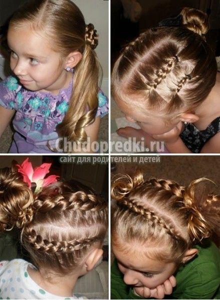 Прически на средние волосы детям