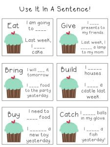 Irregular Verbs Freebies