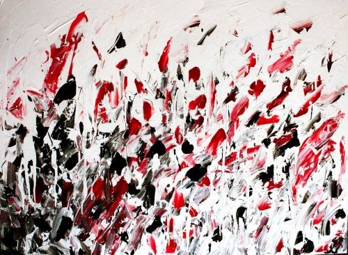Abstract for SALE - Braises 48x36 #abstract #art #painting Julien Aubé
