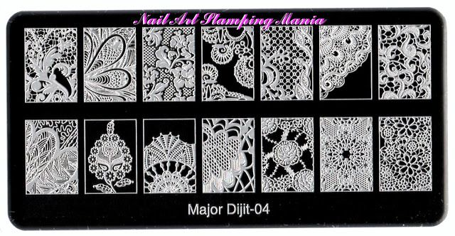 Nail Art Stamping Mania: Major Dijit Stamping Plates from AliExpress- Swatches…