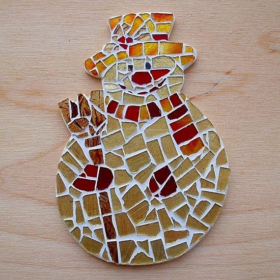 Vánoční tvoření s dětmi - Vánoční mozaika
