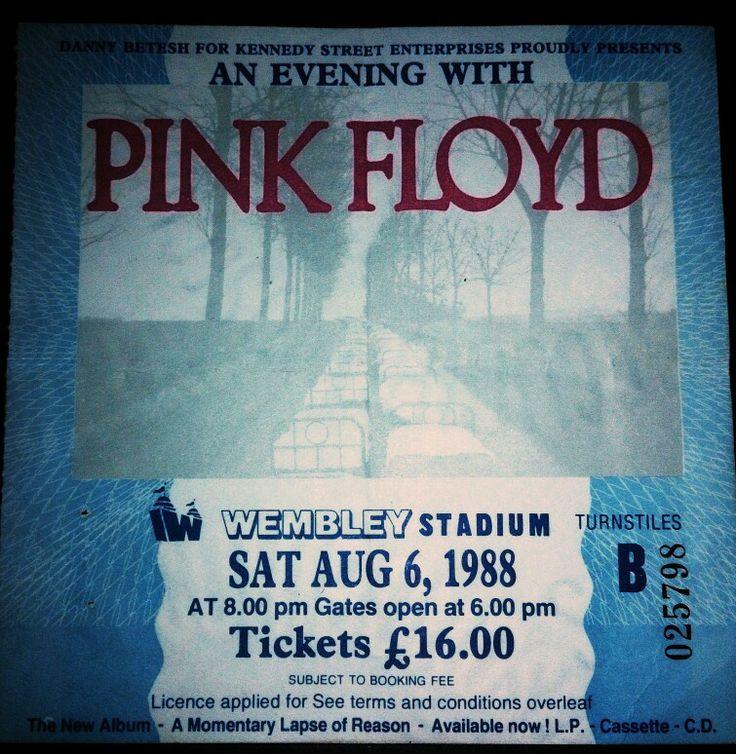 Pink Floyd ticket