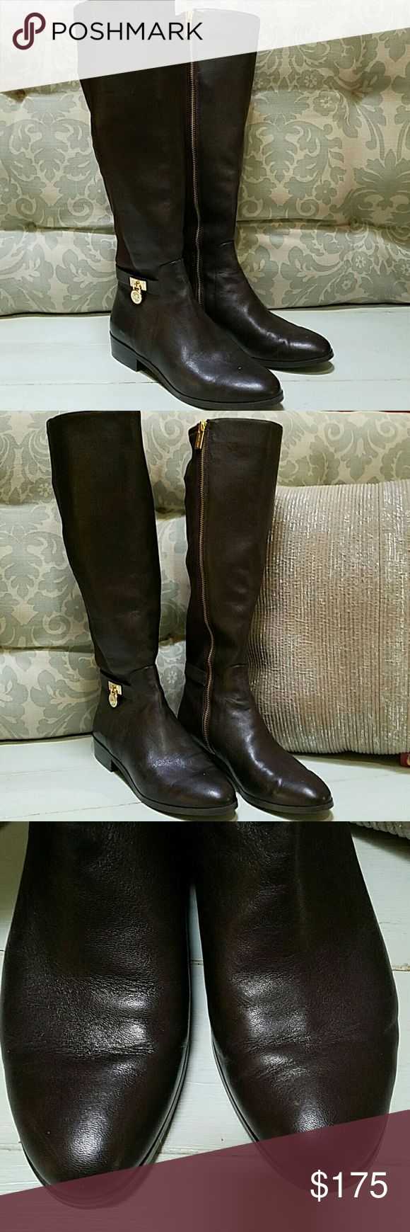 PRICE REDUCED Kors brown stretch boots worn once Michael Kors brown stretch boots worn once Michael Kors Shoes Winter & Rain Boots
