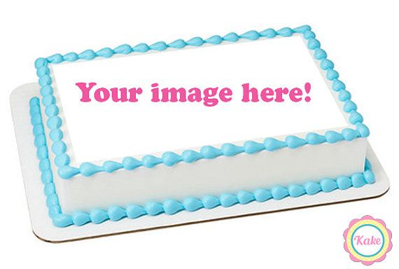 Custom edible cake image topper with optional by ConfettiKake