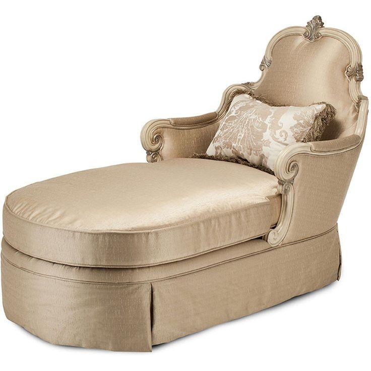 Aico platine de royale wood trim chaise by michael amini for Aico trevi chaise